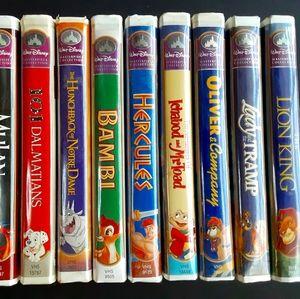 set of 10 disney masterpiece vintage VHS tapes